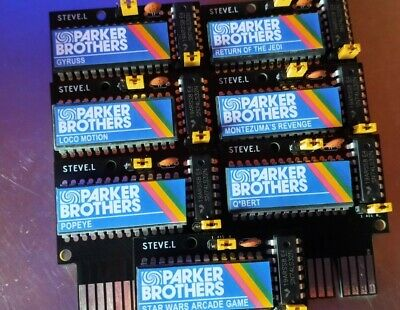 Sinclair ZX Spectrum 48k ROM Cartridge Unreleased Parker Brothers Complete Set • 80£