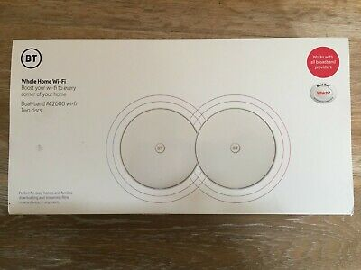 BT Whole Home Dual Band AC2600 Wi-Fi Two Discs. Used Briefly, New Condition. • 50£
