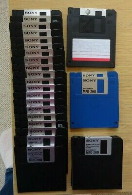 6 X NEW And  24 X USED VINTAGE 3.5 Inch FLOPPY DISCS • 12.99£