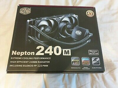 Cooler Master Nepton 240M All In One CPU Cooler For Desktop PC Intel And AMD • 41£