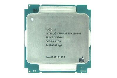 Matched Pair Of Intel Xeon E5-2695 V3 2.3GHz 14 Cores SR1XG Processor W/Grease • 313.83£