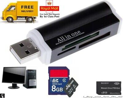 All In One All In 1 USB Memory Card Reader Adapter For Micro SD MMC SDHC TF M2 • 2.14£
