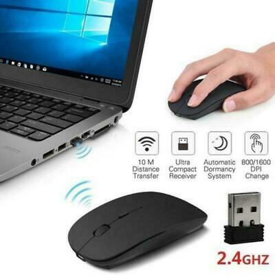 Wireless Cordless Mouse Optical Scroll 2.4GHz For PC Laptop Computer USB • 4.15£