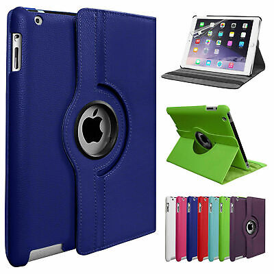 Leather 360 Rotating Smart Case Cover Apple IPad Air 9.7 Pro Air 10.5 Mini 5 • 5.75£