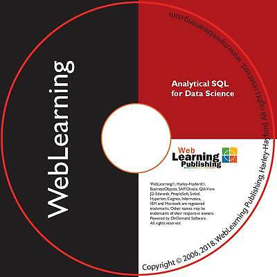 Analytical SQL For Data Science Self-Study ELearning • 74.99£