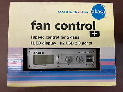 Akasa Fan Control+ Speed Contro For 2 Fans AK-FC-05 • 17.99£