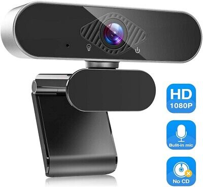 HD 1080P Webcam Camera With Microphone Web Camera For Laptop PC Desktop Computer • 18.99£