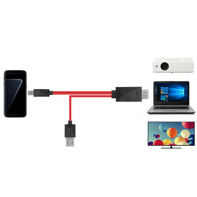 1pcs New Micro USB To HDMI 1080P HDTV Adapter Cable For Samsung Galaxy Note 2 • 6.08£