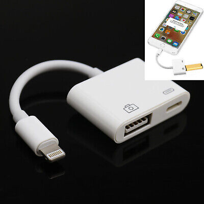 2 In 1 To USB 3.0 Camera SD TF Card Reader Adapter For Apple IPhone • 12.77£
