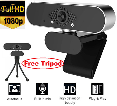 1080P Full HD Streaming Webcam With Microphone For PC Video Calling Conference • 16.99£