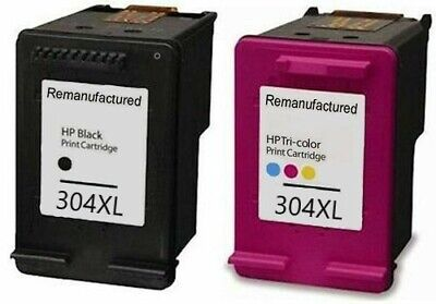 Refilled HP 304XL Black And HP 304 XL Colour Ink Cartridges For Use With HP • 32.49£