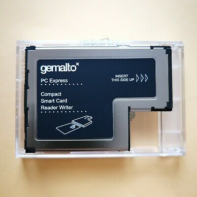 New Genuine Lenovo Gemalto 54mm ExpressCard Smart Card Writer Reader FRU 41N3043 • 9.50£