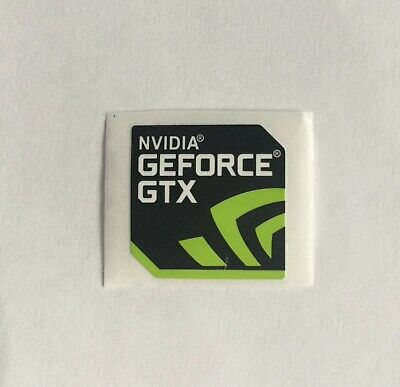 Genuine NVIDIA GEFORCE GTX Computer Sticker Desktop Laptop 2 Stickers £1.99 • 1.99£