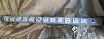 12 Way Vertical Power Strip For Office Server Cabinet • 11£