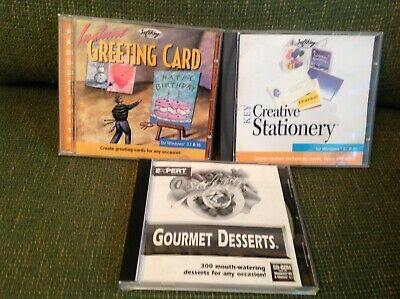 CD ROM INSTANT GREETING CARD, KEY CREATIVE STATIONERY, GOURMET DESSERTS Preowned • 9.99£