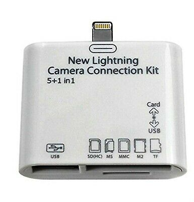 New 5-IN-1 Lightning SD USB Card Camera Connection Kit. • 6.50£