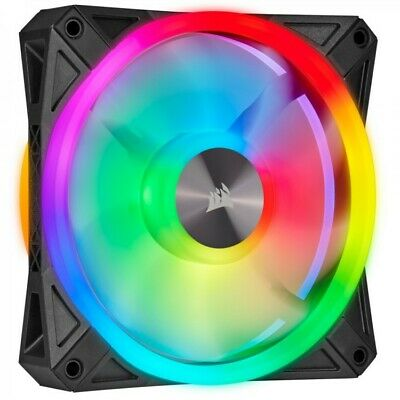 4 X Black Corsair ICUE QL120 ADDRESSABLE RGB PWM FAN -120MM • 120£