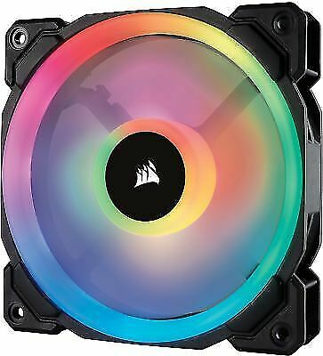 4 X Corsair LL120 RGB Hydraulic Bearing 120mm Case Fan - Black • 100£