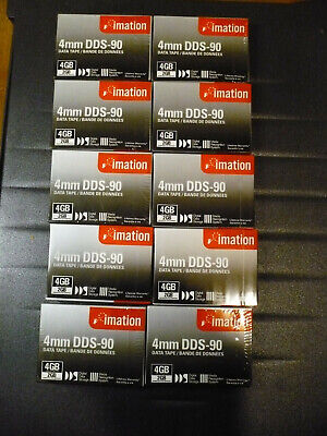 Imation DDS-90 / DDS 1 Tape Drive Data Cartridge - 2/4 GB  TEN Pack NEW, Sealed • 10.99£