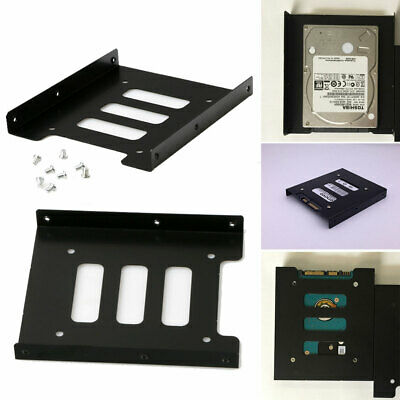1X Hard Drive HDD Mounting Adapter Dock Tray Black 2.5  SSD To 3.5  Bay Bracket • 3.15£