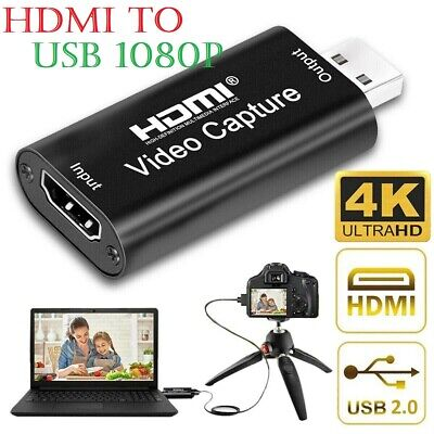 Video Capture Card HDMI To USB HD 1080P Recorder For Game/Live Streaming Tiktok • 8.99£