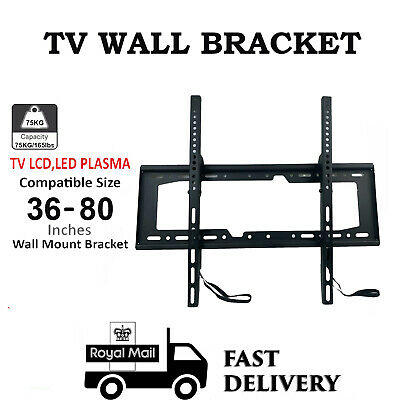 Wall Mount TV BRACKET 36-80 INCHES UP TO 75KG LOAD LED LCD PLASMA TV SUPPORT UK • 12.50£