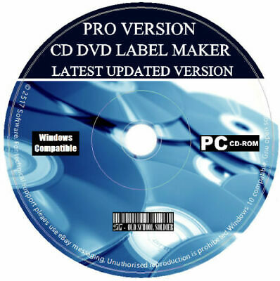 CD DVD Label Maker Pro Creator Design Print Customise Latest Software Pack PC • 3.99£