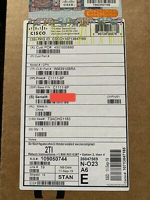 New And Sealed Cisco(C1111-8P) ISR1100 Integrated Services Router • 200£
