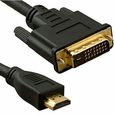 2 Metre DVI To HDMI Cable Gold Connector HTDV Lead V1.3 • 3.99£