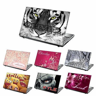 TaylorHe Personalized Laptop Decal Vinyl Skin Sticker With YOUR NAME  • 11.95£