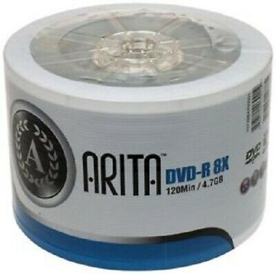 1200 ARITA (RITEK G05) 8X DVD-R LOGO BRANDED DISK Back In After 6 Months Away • 151.40£