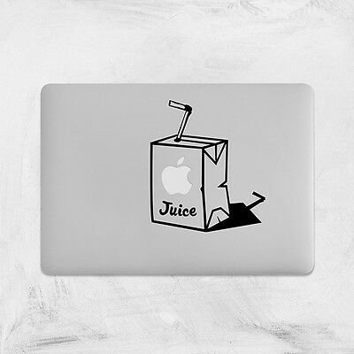 Funny Apple Juice Decal For Macbook Pro Sticker Vinyl Laptop Mac Air Notebook  • 3.99£