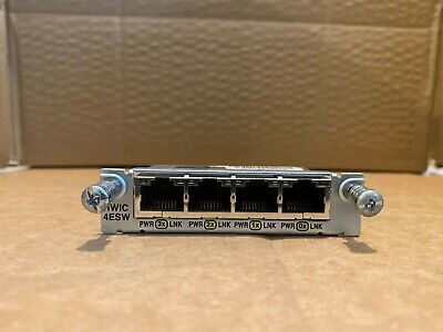 Cisco HWIC-4ESW (HWIC-4ESW=) Cisco 4-Port Fast Ethernet Or 10/100 HWIC Module • 29.99£