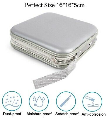 Storage Bag Hard Thin High Quality Holder Cover For 40 Disc CD And DVD - Silver • 4.99£