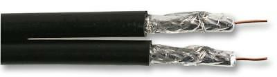 RG59U 75 Ohm Twin Coaxial Cable 0.70mm Black 100m Reel • 49.14£