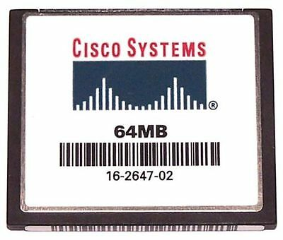 2x Cisco 64MB Flash Or Cisco 64MB Compact Flash CF Card CCNA CCNP CCIE • 10.95£