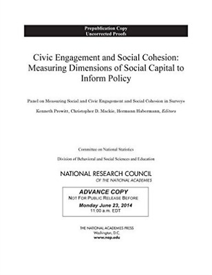 Civic Engagement And Social Cohesio  BOOK NEW • 46.30£