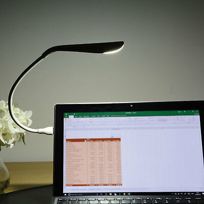 White Flexible USB 14 LED Lamp Light Torch For Laptop Computer Mac Desk & Table • 4.99£