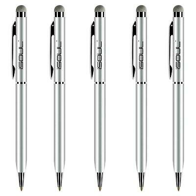 5x Universal Touch Screen Stylus Micro-Fibre Tip Ball Pen For Mobile Phone Tab • 2.99£