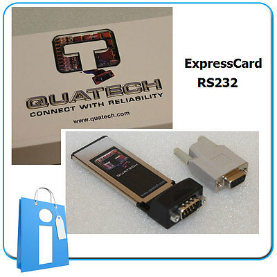Adaptor Card Card Expresscard Series RS232 Quatech SSPXP-100 Serial Com Db9 • 65.21£