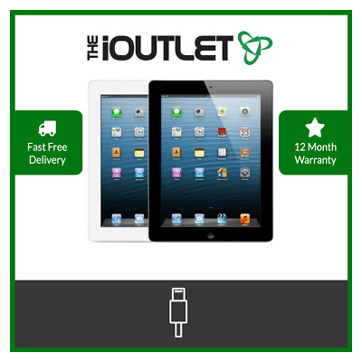 Apple IPad 4 -16/32/64GB - WiFi Or 3G - 9.7in - Black Or White - Various Grades  • 119.99£