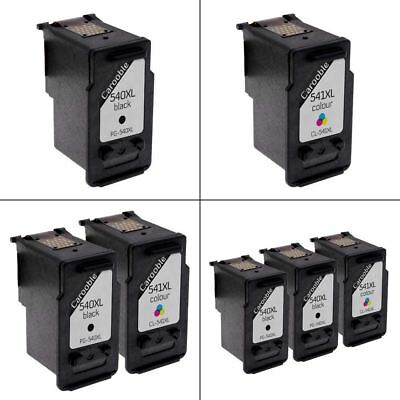 Canon PG-540XL & CL-541XL Ink Cartridges Remanufactured For Canon PIXMA Printers • 28.95£