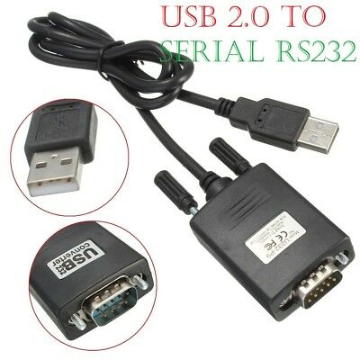 USB 2.0 To Serial RS-232 RS232 DB9 9 Pin Adaptor Converter Cable Lead Wire A++ • 3.45£