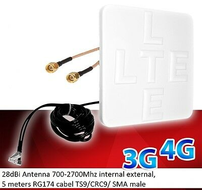 Mobile Broadband Antenna TP-LINK 4G Aerial Booster TL-MR6400 AC750 MR200 SMA • 24.99£