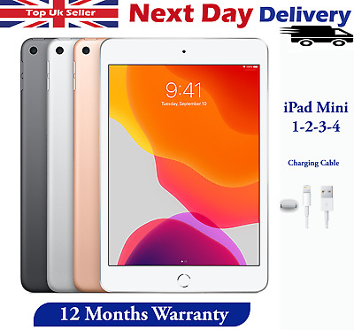 Apple IPad Mini 1 / 2 / 3 / 4 Wi-Fi / Cellular Various Colour Storage And Grades • 94.99£