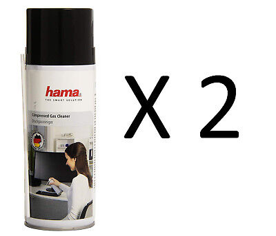 2 X 400ml Compressed Air Duster Gas Spray Cleaner Keyboard Mouse Printer 400ml • 11.50£