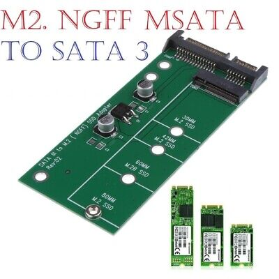 M2 NGFF SSD SATA 3.0 SSDs To SATA Expansion Card Adapter Fast Speed • 3.99£