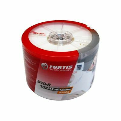 300 X FORTIS LOGO BRANDED DVD-R  FREE 24HR DEL 16X  Top Disks NON PRINTABLE • 45.45£