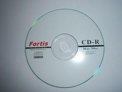 600 X FORTIS LOGO BRANDED CD-R  FREE 24HR DEL 52X  Top Disks NON PRINTABLE • 71.50£