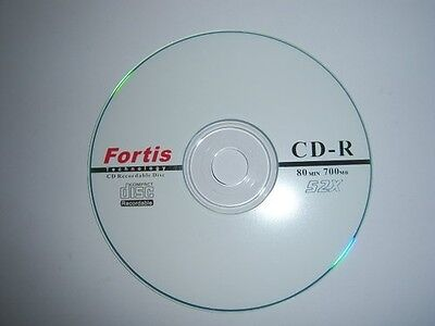 600 X FORTIS LOGO BRANDED CD-R  FREE 24HR DEL 52X  Top Disks NON PRINTABLE • 71.45£